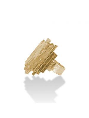 18 Kt vergulde zilveren ONNO ring | R0357PL | small image