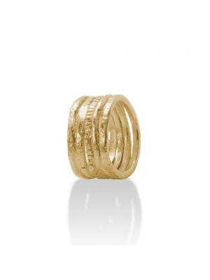 18 Kt vergulde zilveren ONNO ring | R0362PL | small image