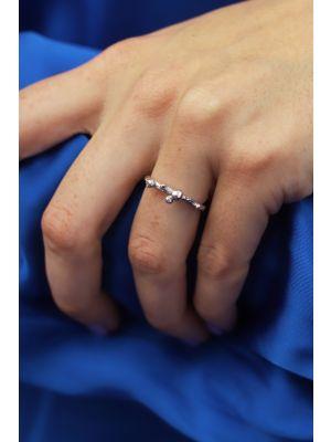 Zilveren ONNO ring met rhodium | R0365RH